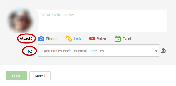 Google Plus share box