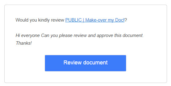 Workflow approval request emaiil