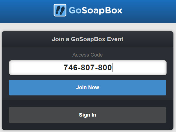 Join GoSoapBox event