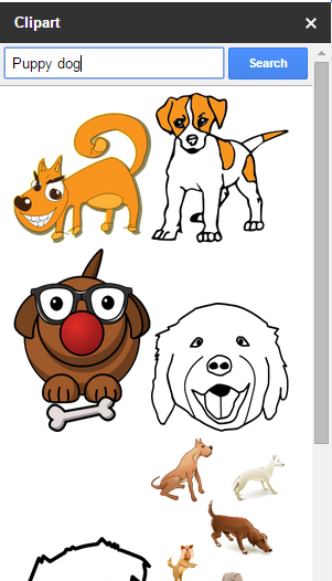 Screen capture of openclipart